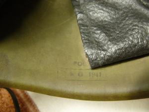 Штампы на шлемах СШ-39 производства ЗКО 40-41гг.