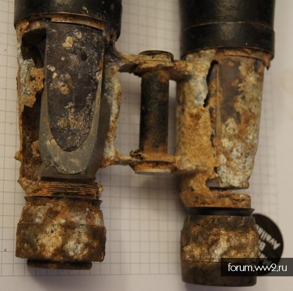 Остатки немецкого морского бинокля