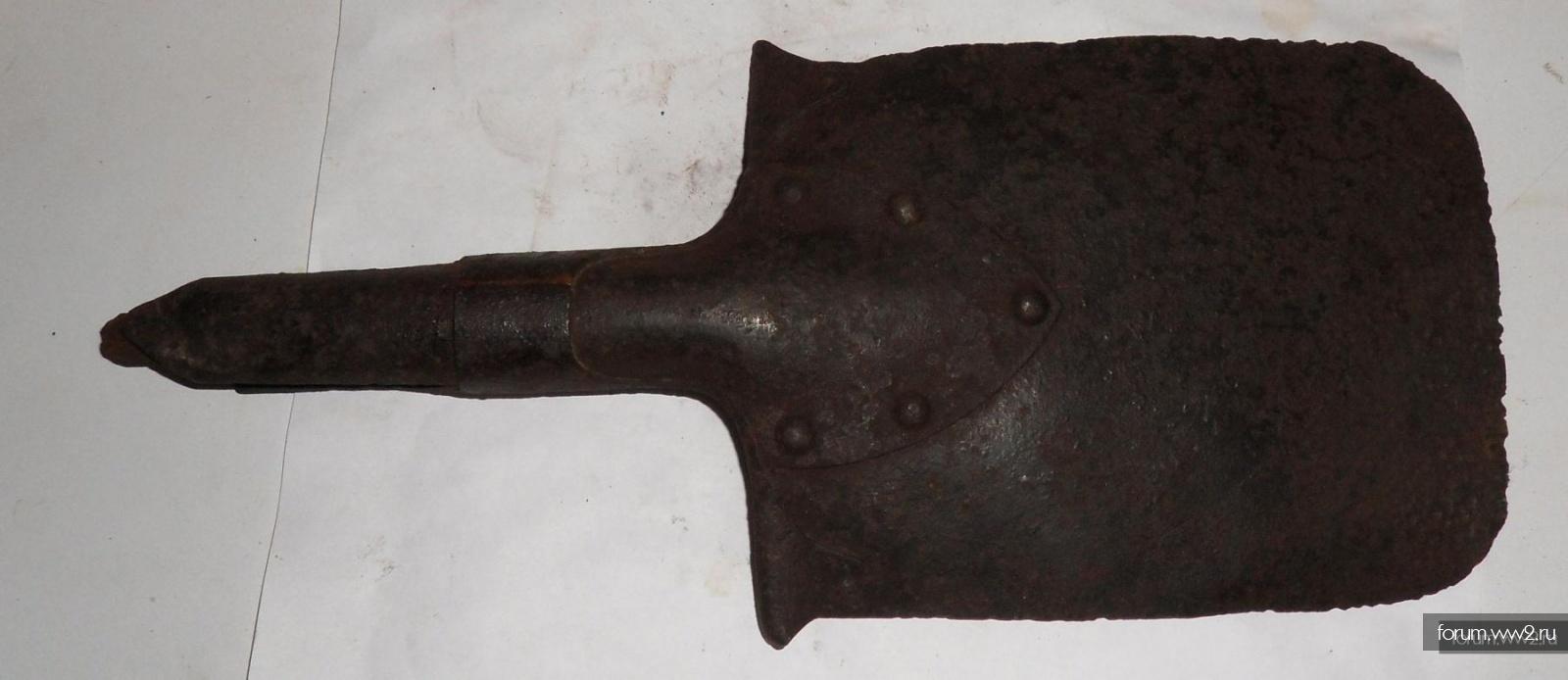 Редкая немецкая малая лопатка. Два клейма