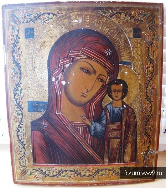 Икона Казанская Пресвятая Богородица 19 век