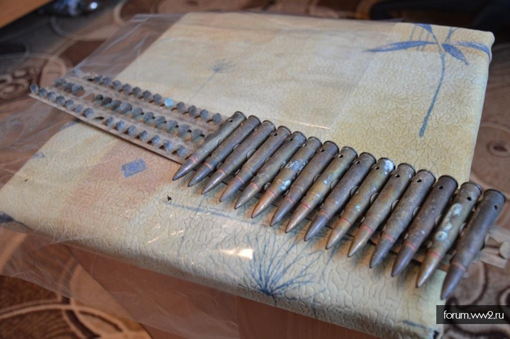 ММГ патрон Арисака 7.7-58 Тип 92 в кассете