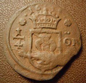1/4 эре 1634 г. Швеция.