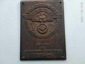 Плакетка sonderspreis NSKK jagd-gelandefahr ohrdorf