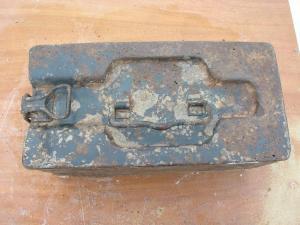 Ящик для патронов в лентах от Немецкого пулимёта МГ-08.
