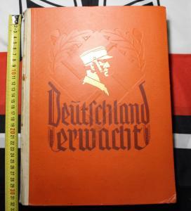 """Книга - альбом """"Германия просыпается"""" (""""Deutschland Erwacht"""") 3 Рейх оригинал, Адольф Гитлер, НСДАП-1"""