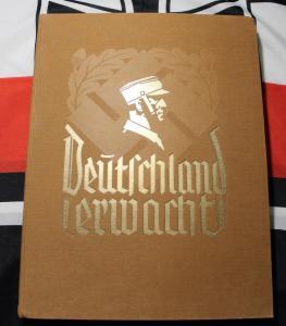 """Книга - альбом """"Германия просыпается"""" (""""Deutschland Erwacht"""") 3 Рейх оригинал, Адольф Гитлер, НСДАП"""