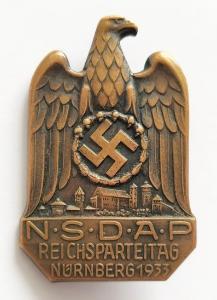 Знак участника съезда НСДАП 1933 года