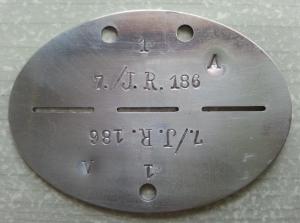 IR 186 erkennungsmarke