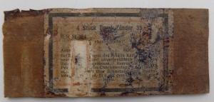 Этикетка коробки из по взрывателей  Zunder 35 Вермахт