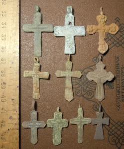 Кресты нательные. 10 шт.