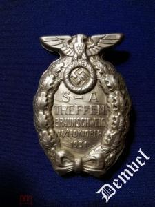 "Знак ""Съезд SA в Брауншвейге 1931""."