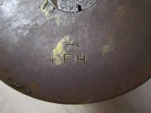 Гильза 105 мм гаубица Вермахт 3 рейх Клейма I.F.H. 6342