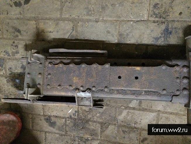 Лафет 76мм полковой пушки образца 1927года.