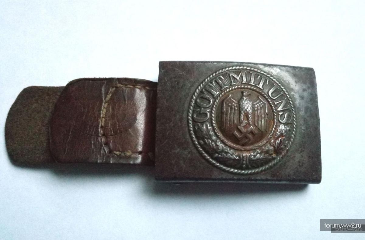 Пряжка стальная Schmolle & Co 1940 с хлястиком