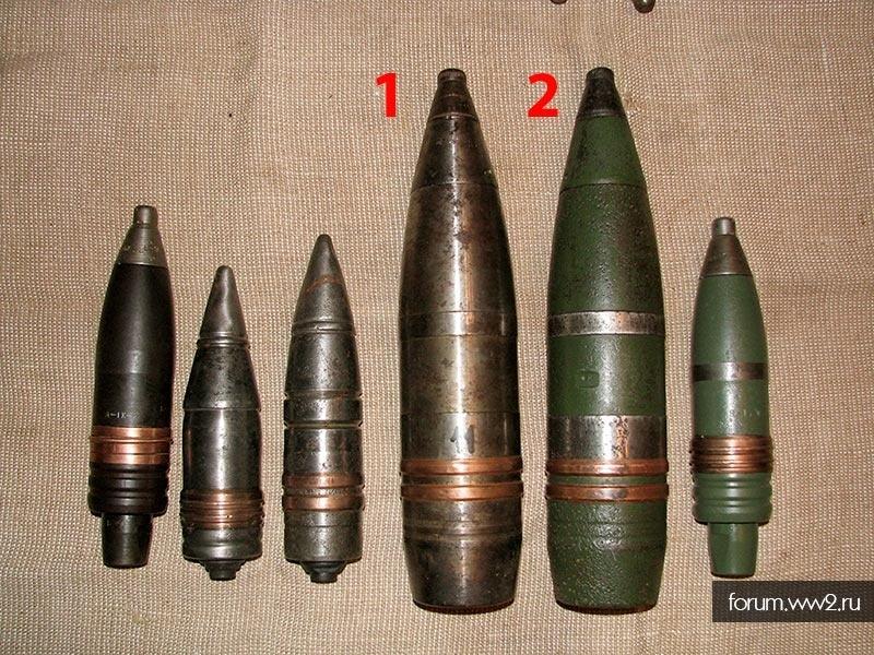 Макеты головных частей снарядов 85 мм из боекомплекта Т-34\85