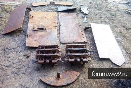 Железо от Jagdpanzer 38(t) Hetzer.