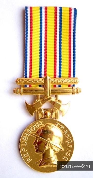 ФРАНЦИЯ. Медаль почета пожарных.
