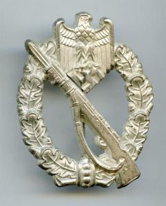 Пехотный знак в серебре S&H бунт