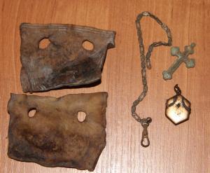 кошелёк под жетон, крестик, цепочка, медальон