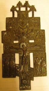 """Крест """"Распятие Христово с предстоящими и иконами"""
