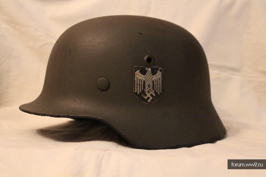 Шлем SD М-35 Вермахта в перекрасе.