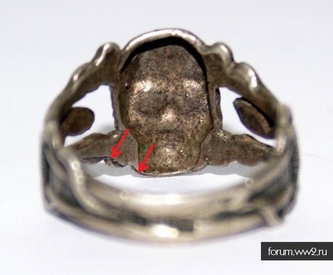 Кольцо Мертвая голова на атрибутирование