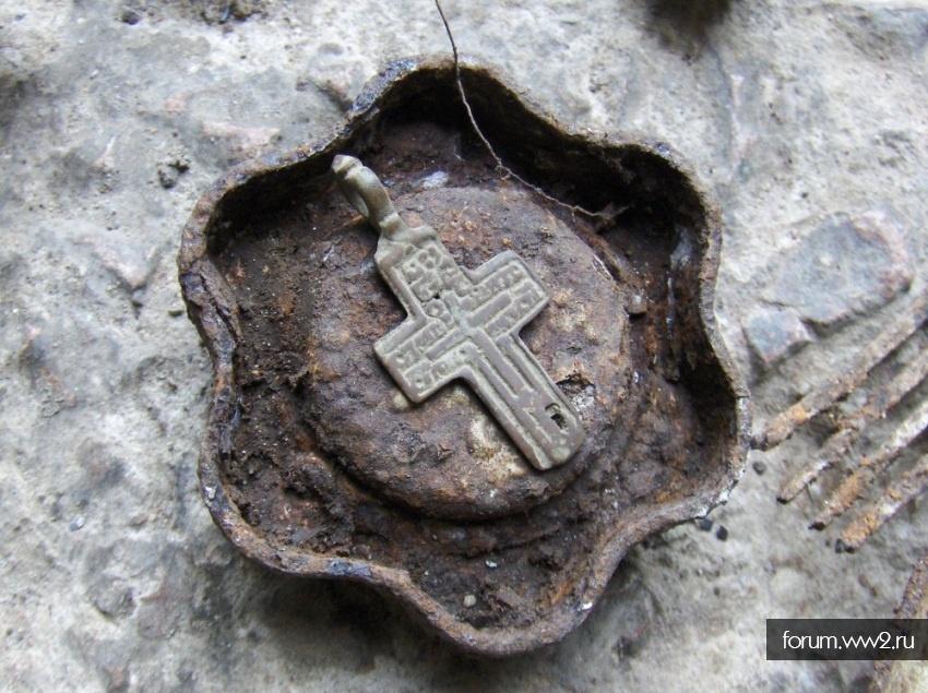 Крестик Медь без Исуса