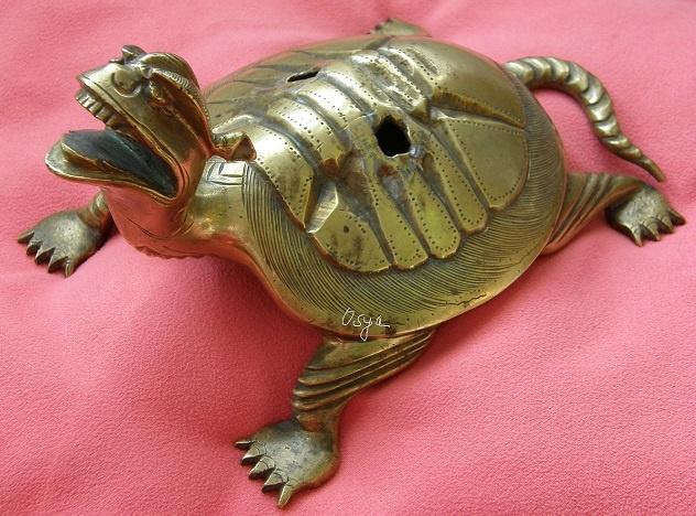Япония. Драконо-черепаха.Бронза.
