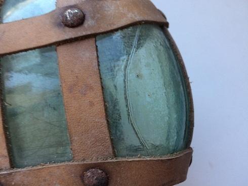 РККА.:.стеклянная фляга в ремённом чехле с черезплечным ремнём.