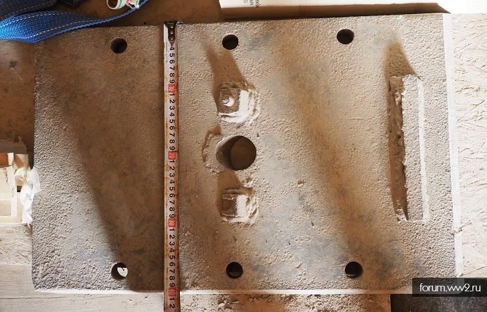 Задняя броня с башни т-34