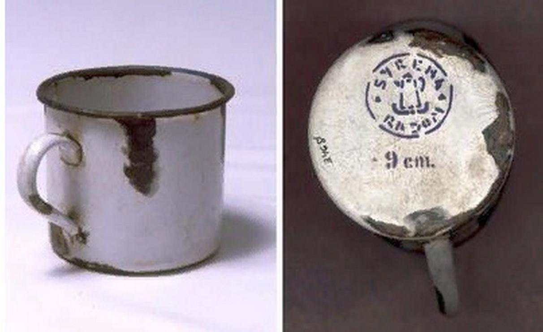 Металлическая тарелка с надписью Waffen SS Lublin