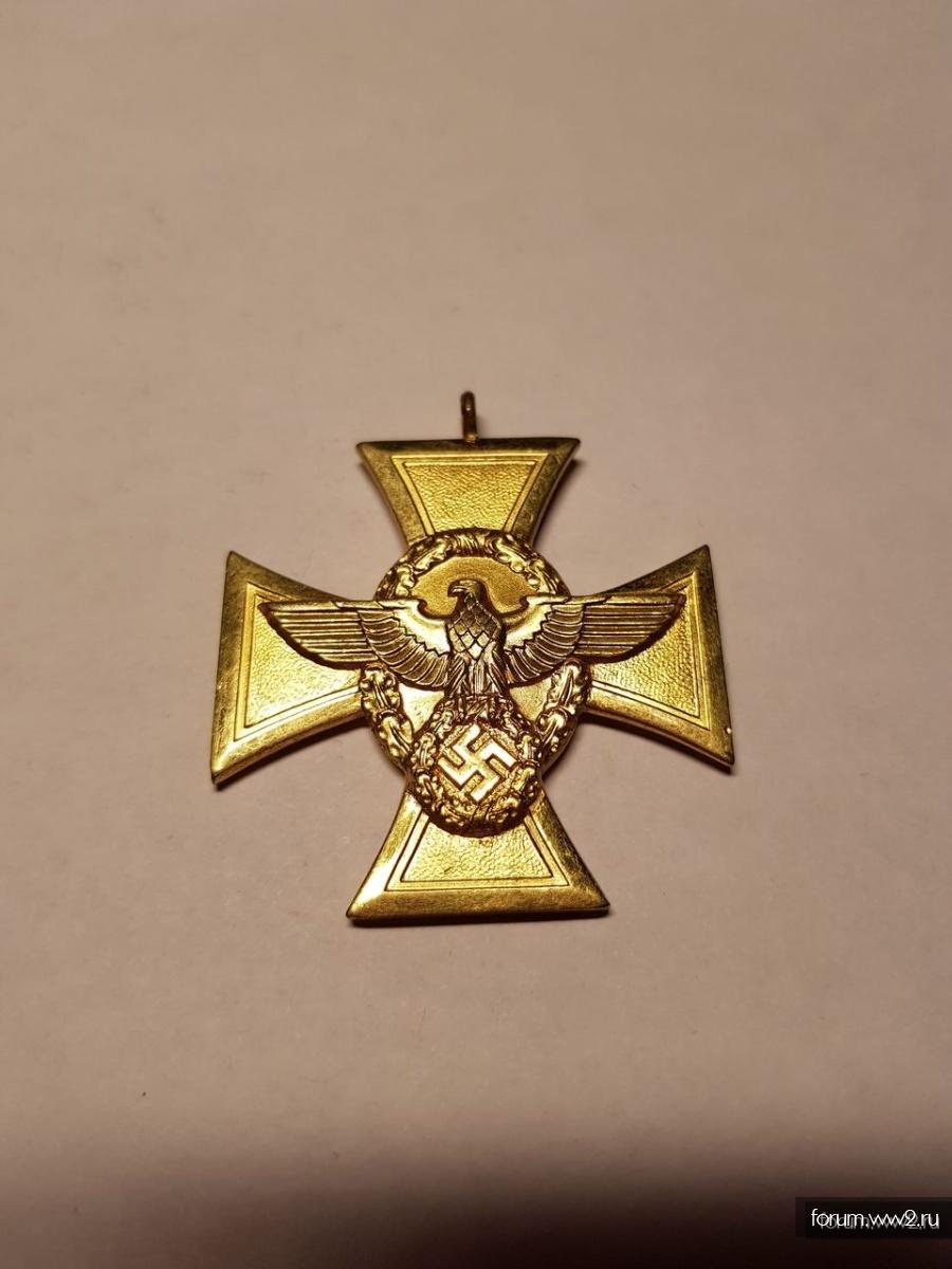 Крест - 25 лет службы в полиции