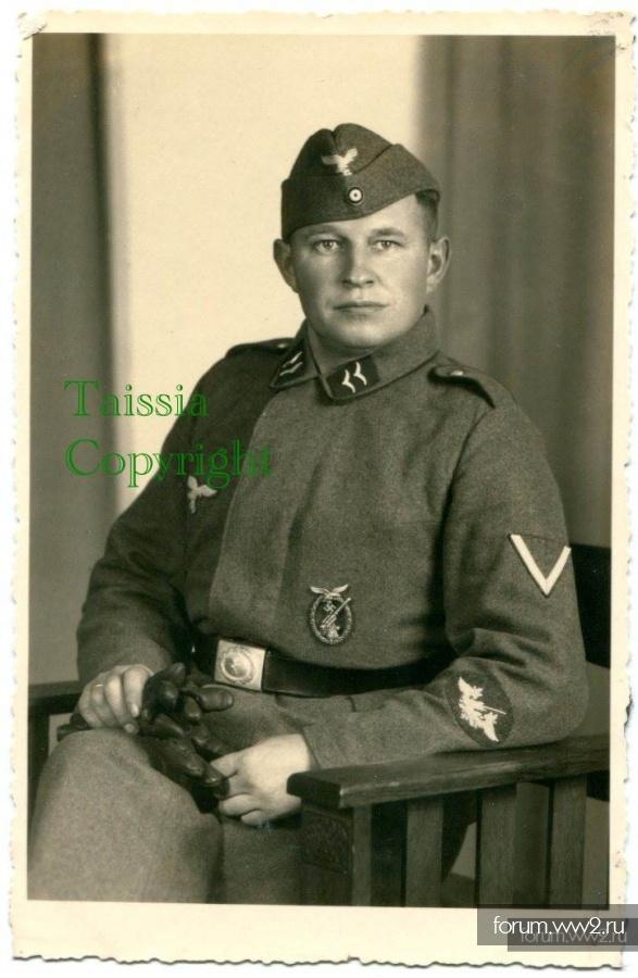 Портрет зенитчика LW со знаком зенитки и квалификационной нашивкой