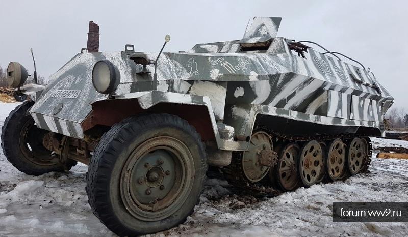 реконструированный  ГАНОМАГ SdKfz 251 Ausf-C на ходу
