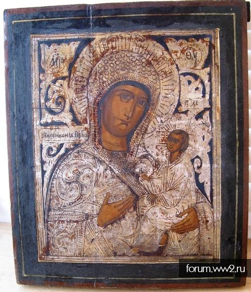 Икона Тихвинская Пресвятая Богородица, Холуй 19 век