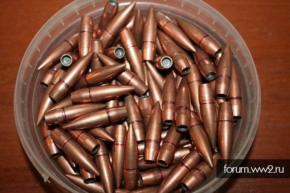 Лёгкая пуля в биметаллической  оболочке 7,62х54 R на ВОВ.