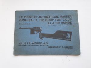 Оригинальная инструкция к пистолету Маузер