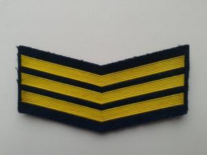 Шеврон нашивка годичка прапорщика ВВС или ВДВ СССР 3 года