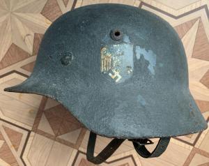 Шлем M35 в крутом камуфляже без утрат 62