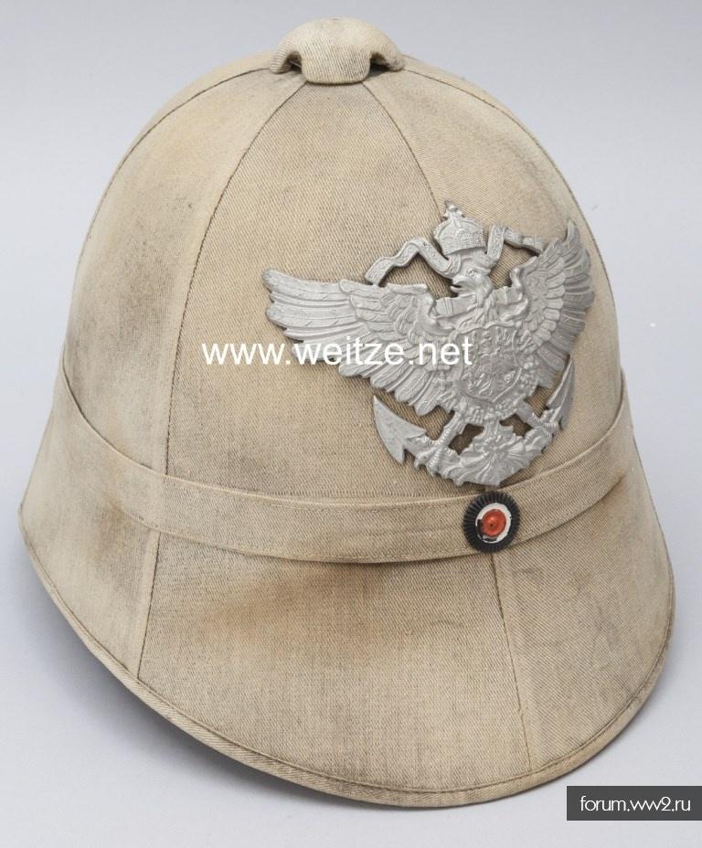 Пробковые шлемы немецких колониальных войск.