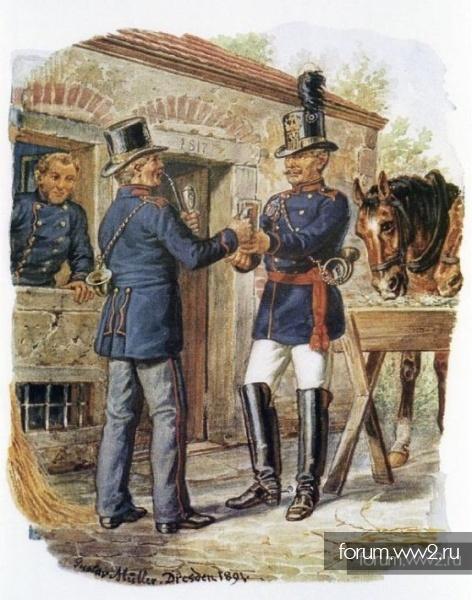 Кокарда прусского почтальона