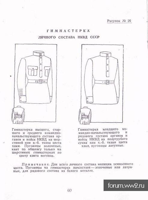 Гимнастерка рядового состава НКВД
