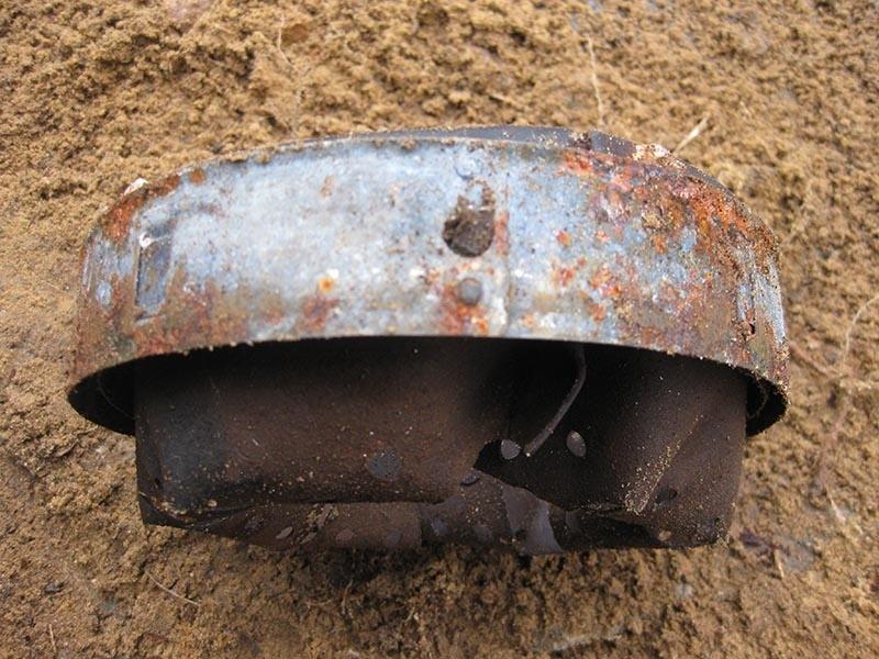 Кожаный подшлемник в сборе на стальном обруче