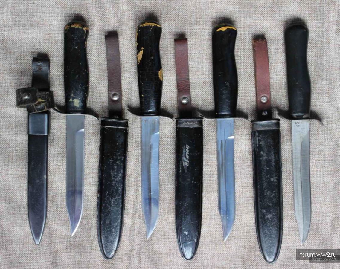 Нож разведчика в стальных ножнах
