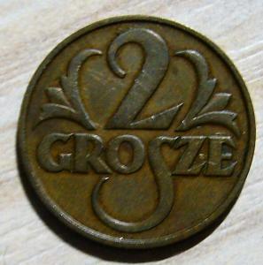 Польша. 2 гроша 1933 г. R