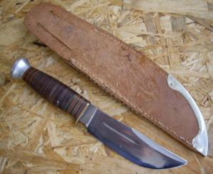 Охотничий нож Pontus Holmberg Eskilstuna Sweden 1940е года