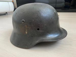 ЧЕРДАЧНЫЙ шлем М-35 из Риги (Боевняк) DD ! С рубля.