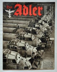 Журналы Der Adler №23 ноябрь 1941