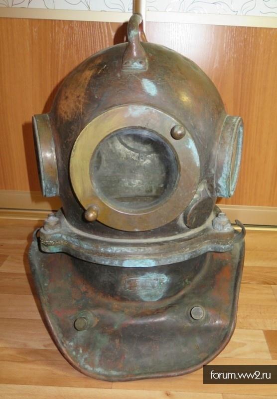 Водолазный шлем, трехболтовка ВМФ СССР. 1988 год. Оценка.
