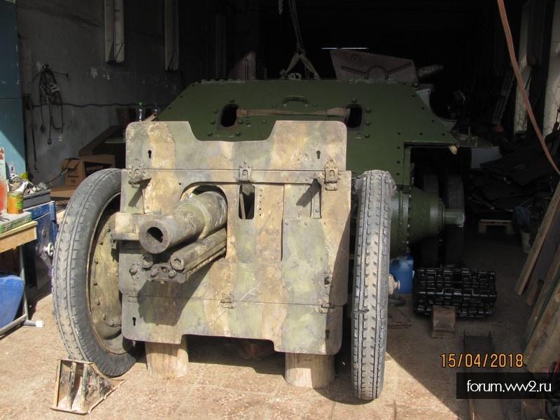 Реставрация 76 мм полкового орудия